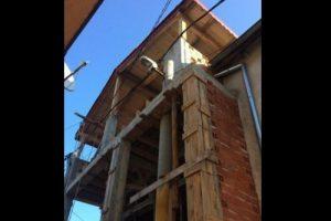 Зазиданият стълб в къщата в Арман махала