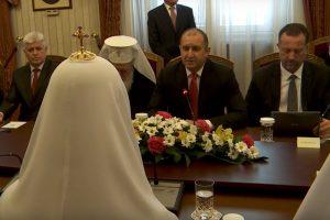 След изказването на патриарх Кирил р,ските медии се оттеглили. СНИМКА: РПЦ