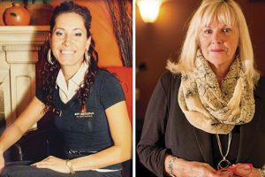 Шери Робинсън (в дясно) казва,че е имала подозрения за връзката й с Кори Фен