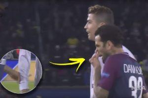Дани Алвеш се изсекна, после си обърса сополите в тениската на Роналдо