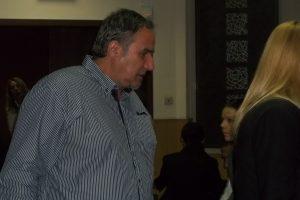 Сотир Янков по време на първото дело срещу него.