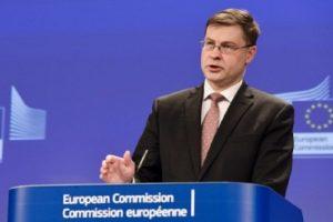 Зам.-председателят на Европейската комисия Валдис Домбровскис