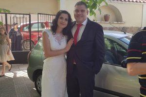 Илия Гатев със съпругата си Тамара в деня на сватбата