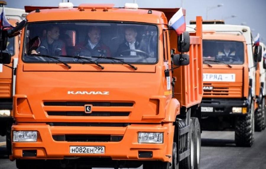 Путин подкара Камаз