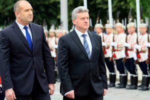Президентът Румен Радев разговаря с македонския си колега Георге Иванов