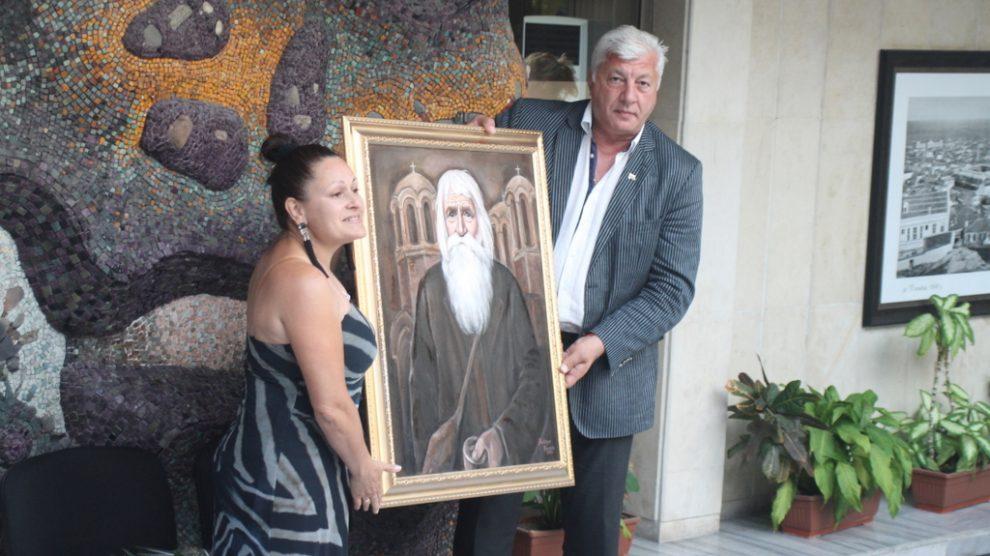 Областният управител получи портрета на дядо Добри