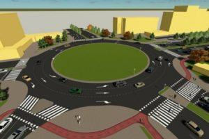 """Така би изглеждало кръговото, като ул. """"Младежка"""" ще бъде отворена."""