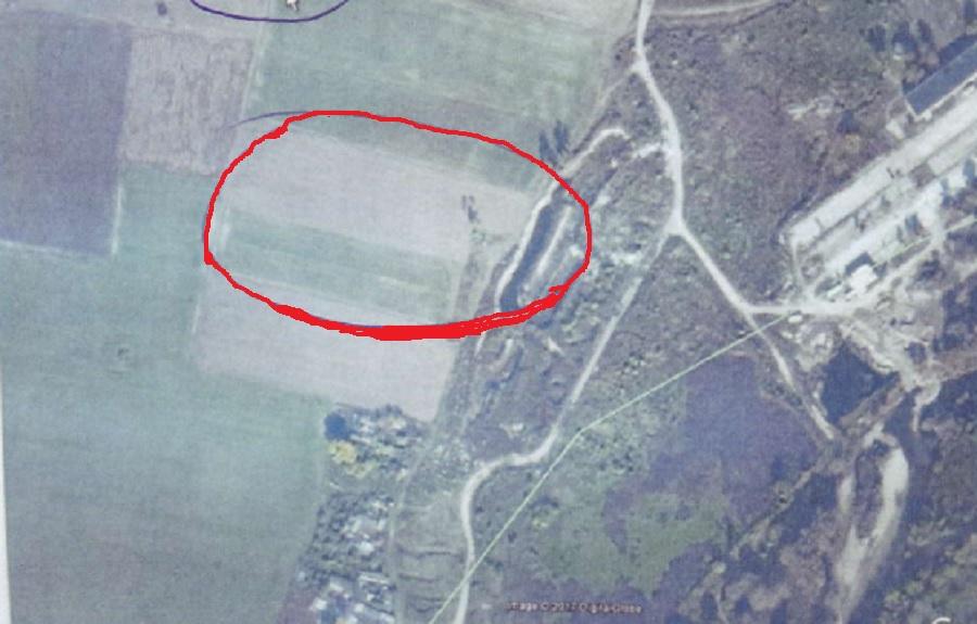 Сателитна снимка на част от находището край Катуница.