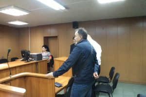 Бившият полицейски шеф Стоян Павлов в съдебната зала.