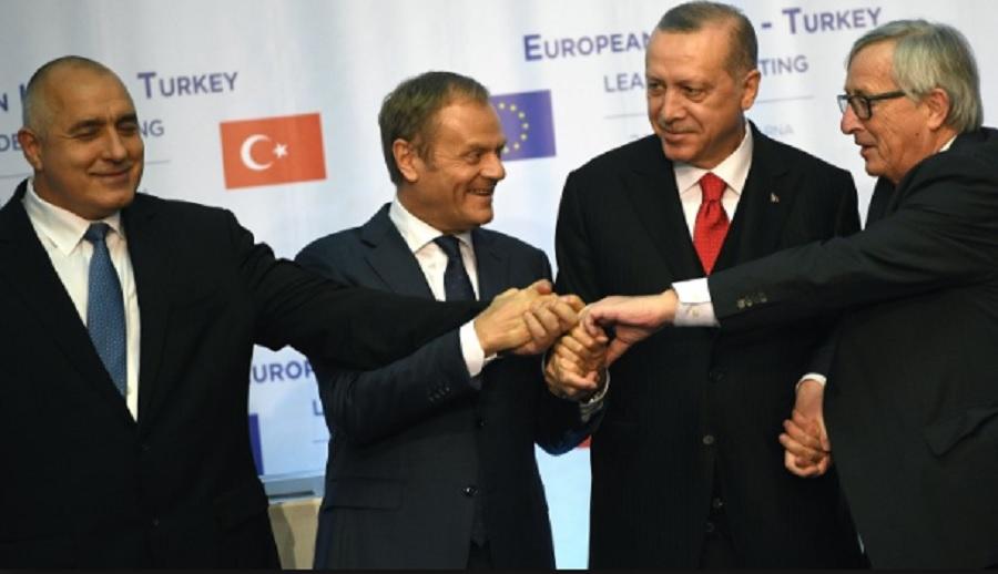 Бойко Борисов, Доналд Туск, Реджеп Ердоган и Жан -Клод Юнкер се събраха във Варна през март
