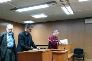 Константин Атанасов в съдебната зала.