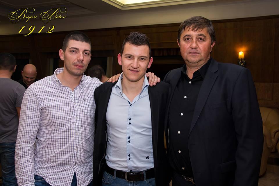 Ангел Палийски (вдясно) с Тодор Неделев