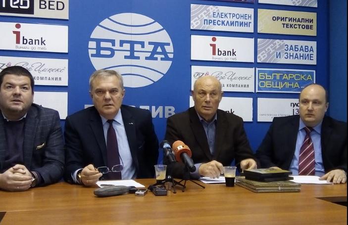 Владимир Маринов, Румен Петков, проф. Любомир Халачев и адв. Георги Илчев