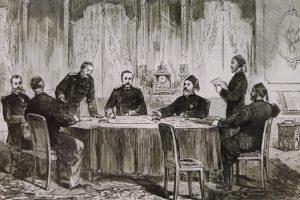 Подписването на Сан Стефанския мирен договор
