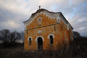 Църквата в Главатар преди година и няколко месеца.
