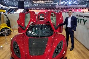 Стоян Досев представи в Женева български спортен автомобил novini-plovdiv-press
