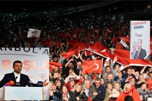 След отмяната на изборите в Истанбул избухнаха протести.