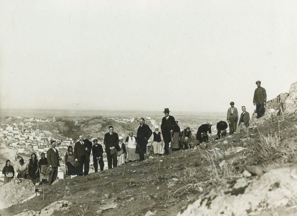 Залесяването на Младежкия хълм (Джендем тепе), 1933 г.