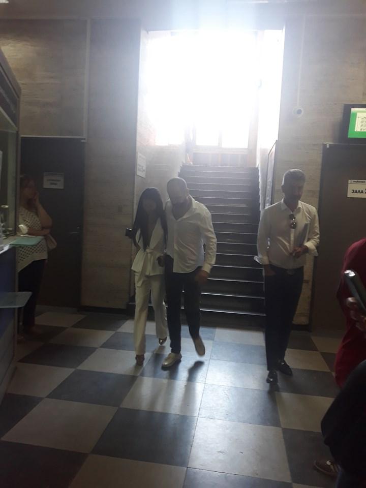 Мегз и Румен Рончев преди време заедно в Съдебната палата.