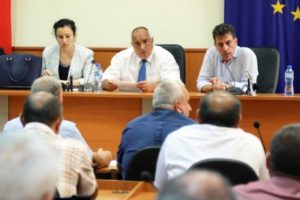 Борисов в Пазарджик разговаря с кметове.