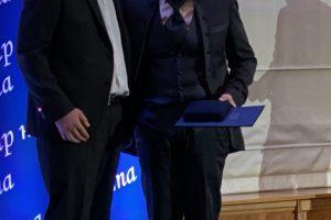 Проф. Дечев на церемонията по награждаването за Лекар на годината.