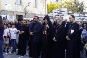 Архиерейският наместник на Арменската епархия в Румъния и България епископ Датев Агопян дойде на протеста в Пловдив novini-plovdiv-press
