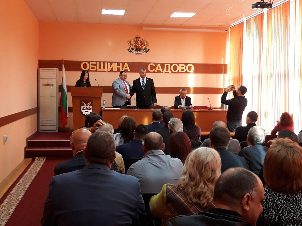 Атанас Телчаров беше избран за председател на Общинския съвет в Садово.