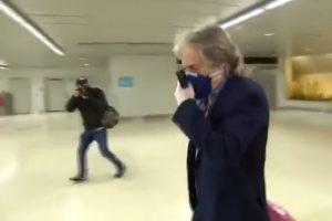 Жорже Жезус на летището. Кадър: TVI