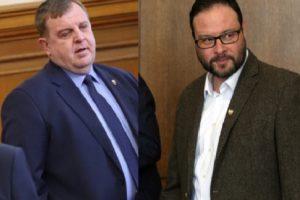 Военният министър Каракачанов и Десислав Чуколов общуваха доста остро.