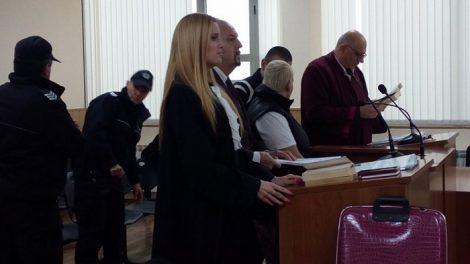 Екатерина Андреева и Стефан Спасов пред съда