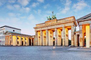Берлин, Бранденбургската врата.