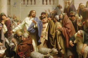 Иисус се разгневил, че храмът не е тържище, а дом за молитви.