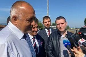 Бойко Борисов инспектира пътя Пазарджик - Пловдив