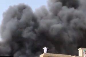 На мястото на катастрофата се издига черен дим