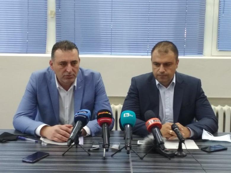 Окръжният прокурор Румен Попов и шефът на полицията в Пловдив Йордан Рогачев.