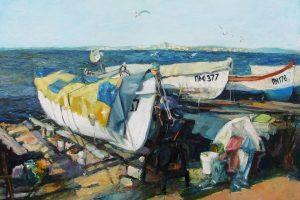 Картината на художничката Нели Тодорова, предоставена за търга.