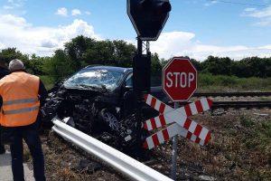 Колата, която се блъсна във влака на прелеза