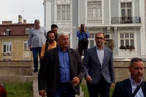 Кметът Здравко Димитров и заместникът му Пламен Панов