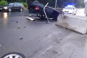 Ужасната катастрофа до Метро, авномобилът се е разпаднал.