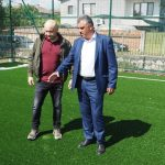 Кметът Димитър Иванов инспектира новата спортна площадка в село Царацово