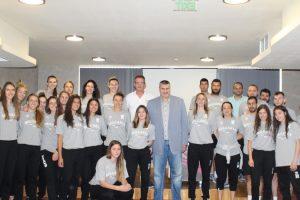 Любо Ганев се срещна с женския национален отбор.