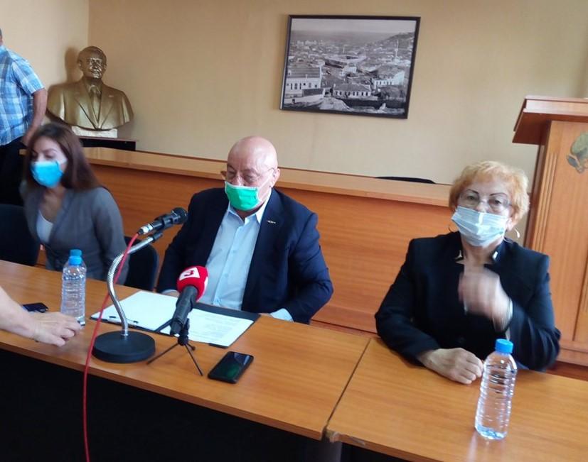 Първата пресконференция на Георги Гергов след избора му за градски лидер на БСП.