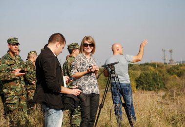 Репортерката Морунова на терен.