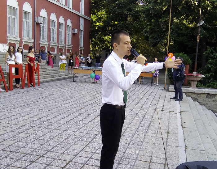 Николай Николов в деня на дипломирането