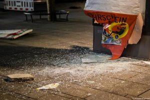 Резултатът от безредиците в Щутгарт. Снимка: Дойче Веле