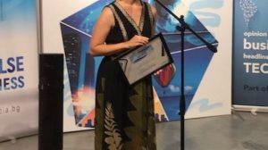 Калина Петкова получи наградата от името на компанията.