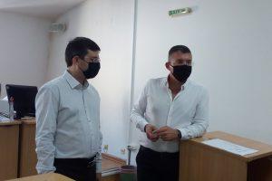 Александър Точевски и Иван Калибацев - председател на Районния съд в Пловдив
