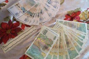 Част от откритите пари