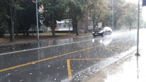 Силен дъжд над Пловдив.