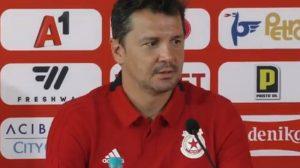 Милош Крушчич на последната си пресконференция като треньор на ЦСКА